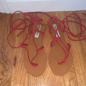 Steve Madden Suede ballet strap sandals